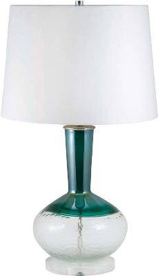 Lamp Works Hand Etched Clear & Teal Glass Table Lamp  Search Results