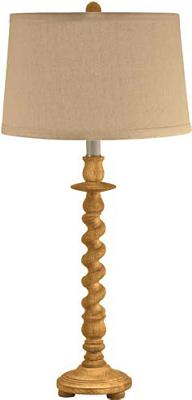 Lamp Works Washed Wood Barley Twist Table Lamp  Search Results