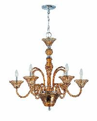 Benno Amber Chandelier by