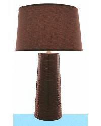 Ashanti Ceramic Table Lamp - Coffee by