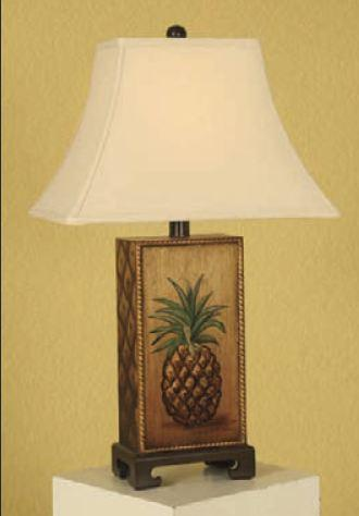 Hand painted pineapple table lamp interiordecorating mario lamps hand painted pineapple table lamp cream linen shade search results aloadofball Choice Image