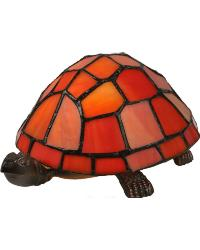 Turtle Tiffany Glass Accent Lamp 10271 by