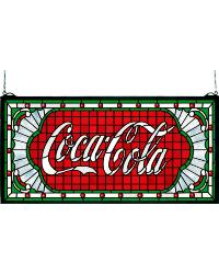 Coca-Cola Victorian Web Stained Glass Window by