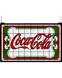 Coca-Cola Nouveau Stained Glass Window by