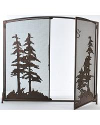 Tall Pines Operable Door Arched Fireplace Screen by