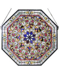 Front Hall Floral Stained Glass Window 107222 by