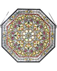 Front Hall Floral Stained Glass Window 107223 by