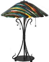 Penna Di Pavone Fused Glass Table Lamp 108407 by