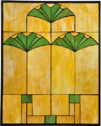 Ginkgo Stained Glass Window by