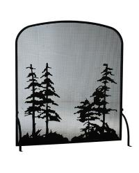 Tall Pines Arched Fireplace Screen by
