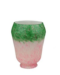 4in W PINK GREEN GRAPE PATEDEVERRE SHADE 11516 by
