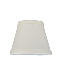 5.25in W X 4in H Natural Linen Fabric Shade 116575 by