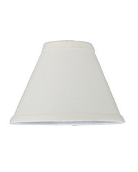 7in W X 5in H Natural Linen White Fabric Shade 116576 by