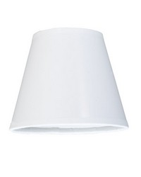 5in W X 4in H Taos White Glossy Parchment Shade 117444 by
