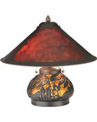 Van Erp Amber Mica Lighted Base Table Lamp 118681 by