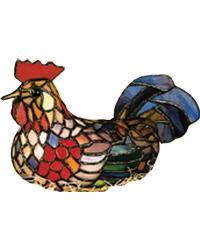 Tiffany Rooster Accent Lamp 12122 by