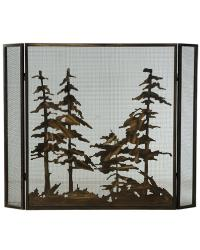 Tall Pines Folding Fireplace Screen by