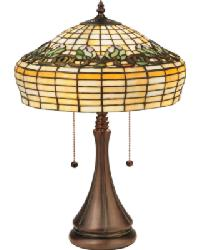 Duffner and Kimberly Raised Tulip Table Lamp 127120 by