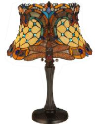 Tiffany Hanginghead Dragonfly Table Lamp 130762 by