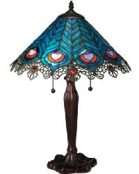 Peacock Feather Lace Table Lamp 138775 by