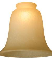 5.5in W X 4.75in H Bell Carmel Speck Shade by
