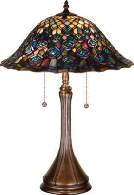 Meyda Tiffany Tiffany Peacock Feather Table Lamp