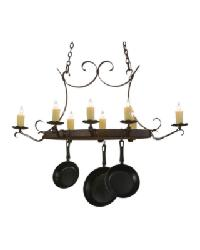 Handforged Oval 8 Lt Pot Rack 151157 by