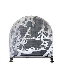 Fly Fishing Creek Arched Fireplace Screen by