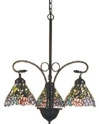 Wisteria 3 Lt Chandelier 16102 by