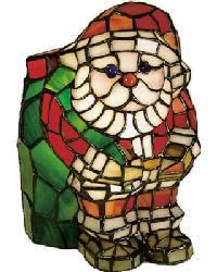 Santa Claus Tiffany Glass Accent Lamp 17241 by