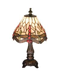 Tiffany Scarlet Dragonfly Mini Lamp 17525 by