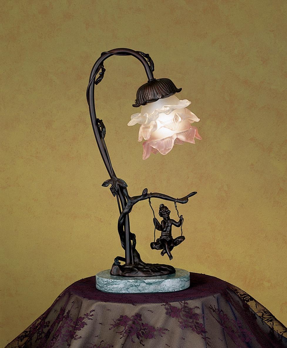 Cherub On Swing Accent Lamp 17855 Meyda Tiffany
