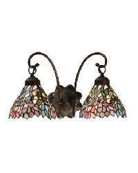 Wisteria 2 Lt Wall Sconce 18722 by