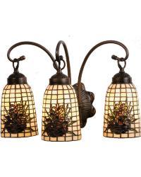 Pine Barons 3 Lt Vanity Light 18785 by