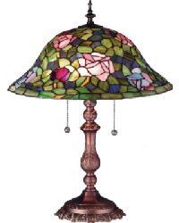 Tiffany Rosebush Table Lamp by