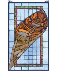 Guideboat Stained Glass Window by