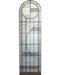 Arc Deco Left Sided Stained Glass Window 22868 by
