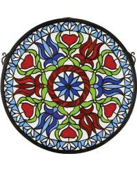 Medallion Stained Glass Window by