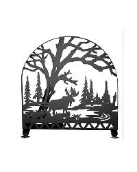 Moose Creek Arched Fireplace Screen by