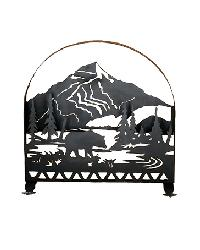 Bear Creek Arched Fireplace Screen by