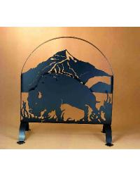 Buffalo Arched Fireplace Screen by
