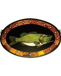 Bass Plaque Stained Glass Window by