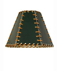 7in W X 5in H Faux Leather Green Hexagon Shade 24176 by