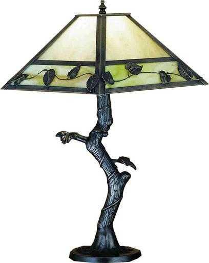 Mission Vine Leaf Crooked Tree Table Lamp