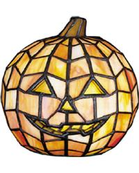 Jack O Lantern Tiffany Glass Accent Lamp 24733 by