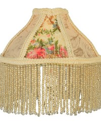6in W Fabric  Fringe Roses Shade 25901 by