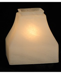 5in Sq Bungalow Alabaster Shade 26250 by