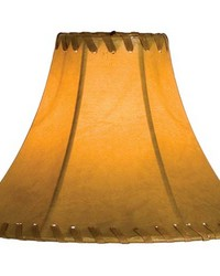 8in W X 6in H Faux Leather Tan Hexagon Shade 26350 by