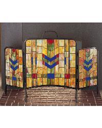 Prairie Wheat Folding Fireplace Screen by