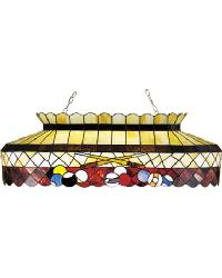 Burgundy Pool Table Light by